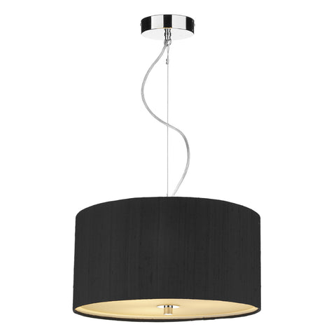 där Lighting REN1722 Renoir 60cm Black Pendant Ceiling Light