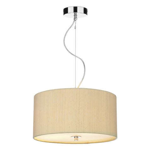 där Lighting REN1741 Renoir 60cm Sea Mist Gold Pendant Ceiling Light