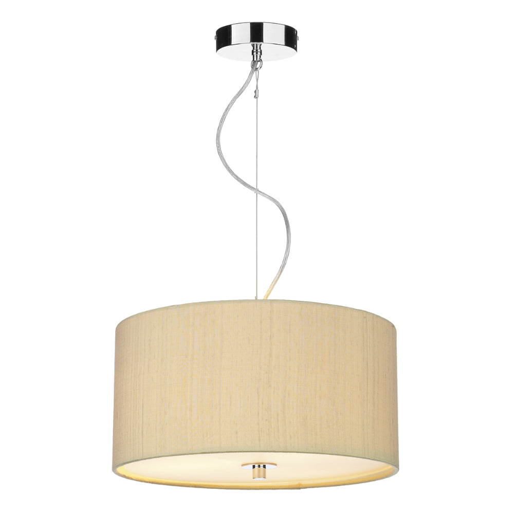 där Lighting REN1041 Renoir 40cm Sea Mist Gold Pendant Ceiling Light