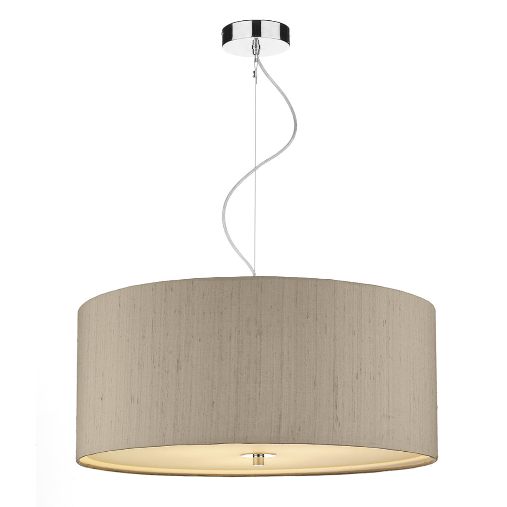 där Lighting REN1701 Renoir 60cm Taupe Pendant Ceiling Light