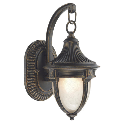 där Lighting RIC3235 Richmond Single Light Black Gold Small Outdoor Wall Light
