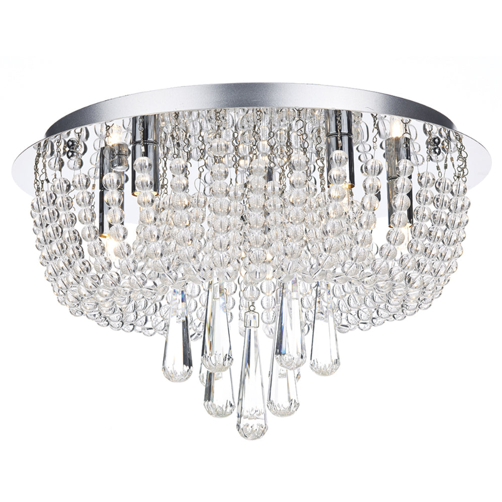 där Lighting SAI5450 Saigon 5 Light Polished Chrome Flush Ceiling Light