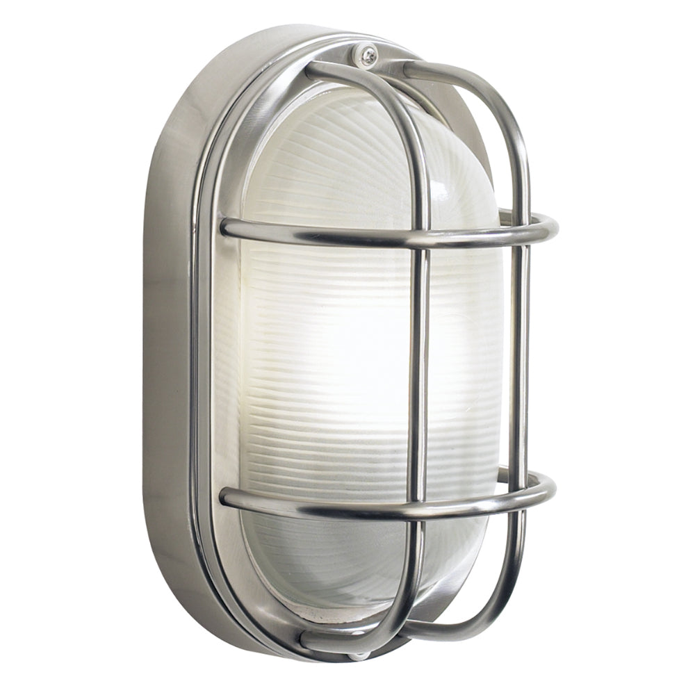 där Lighting SAL5244 Salcombe Single Light Stainless Steel Outdoor Wall Light