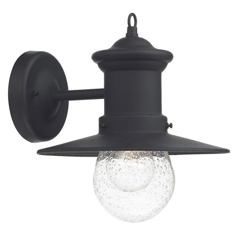 där Lighting SED1522 Sedgewick Single Light Black Outdoor Wall Light