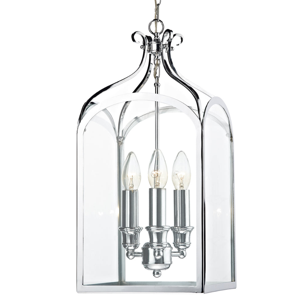 där Lighting SEN0350 Senator 3 Light Polished Chrome Pendant Ceiling Light