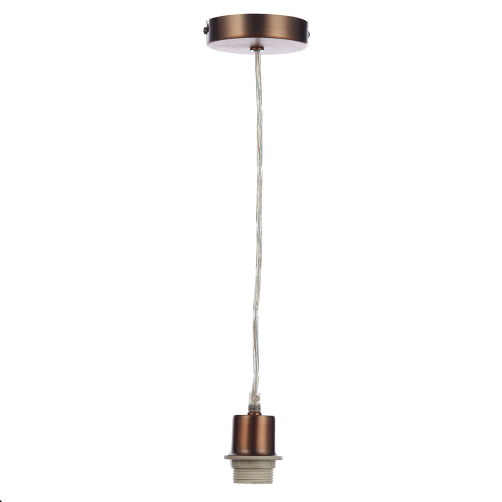 där Lighting SP64 Aged Copper Suspension With Clear Cable