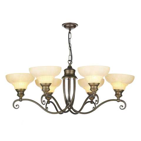 David Hunt ST611 Stratford 6 Light Aged Brass Ceiling Light