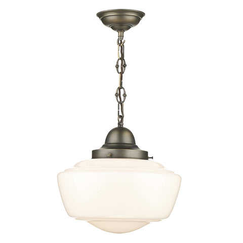 David Hunt STO012 Stowe Single Light Opal Pendant Ceiling Light