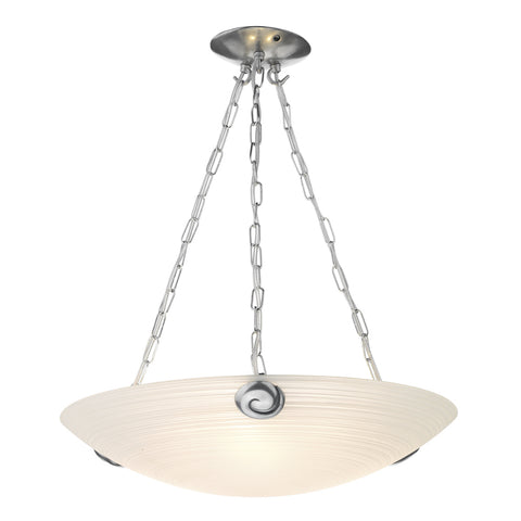 David Hunt SWP0367 Swirl 3 Light Pewter Pendant Ceiling Light