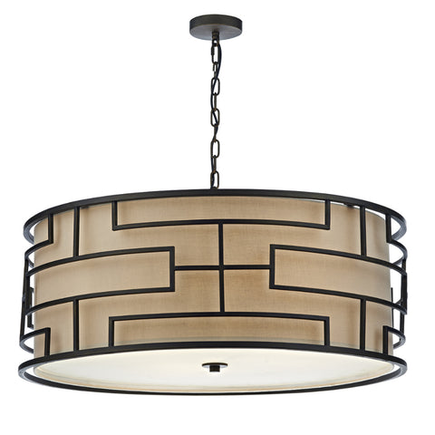 där Lighting TUM0463 Tumola 4 Light Bronze Pendant Ceiling Light