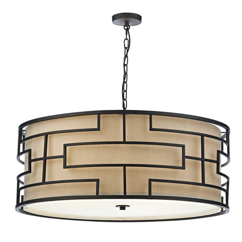 där Lighting TUM0663 Tumola 6 Light Bronze Pendant Ceiling Light