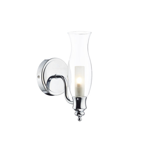 där Lighting VES0750 Vestry Single Light Polished Chrome Wall Light