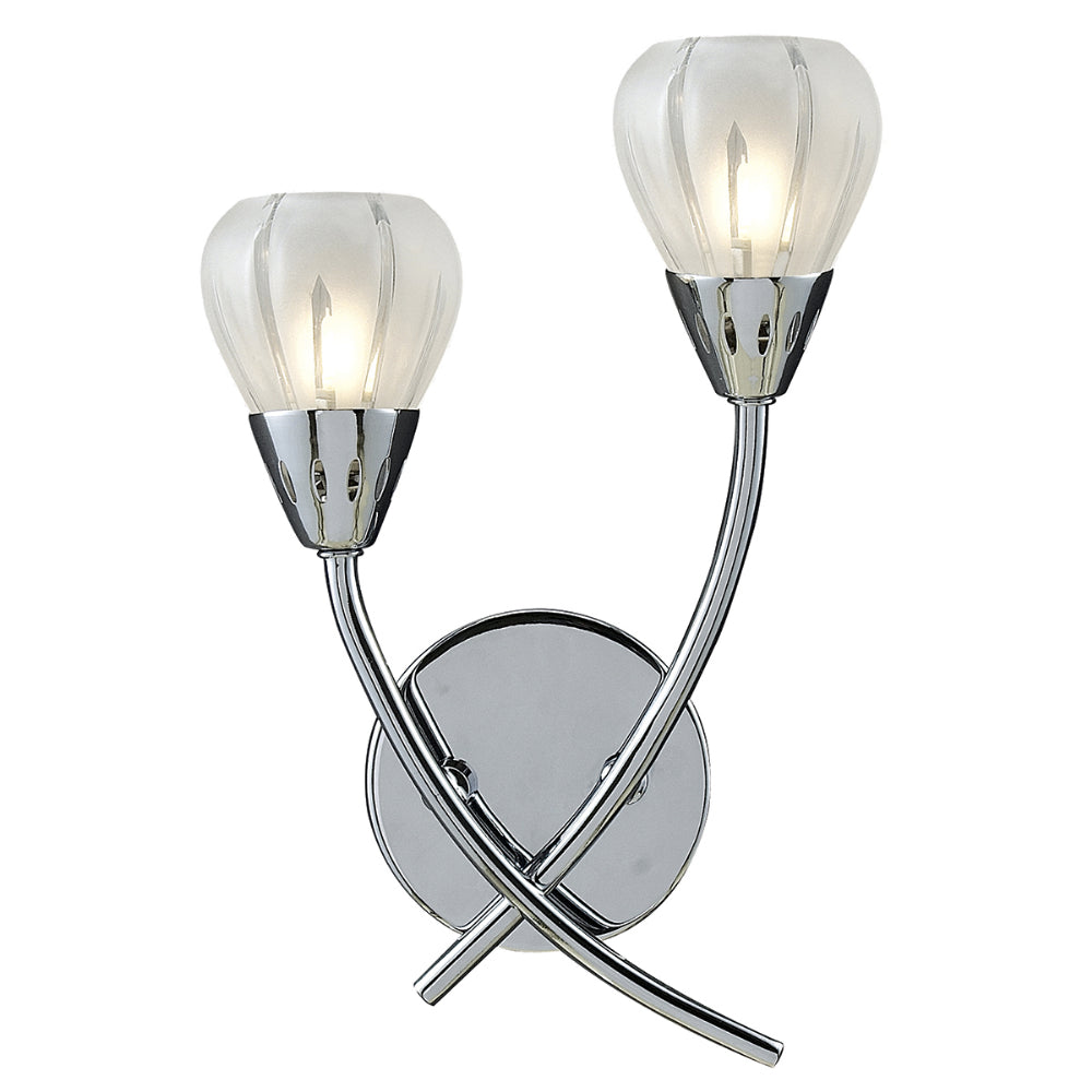 där Lighting VIL0950 Villa 2 Light Polished Chrome Wall Light