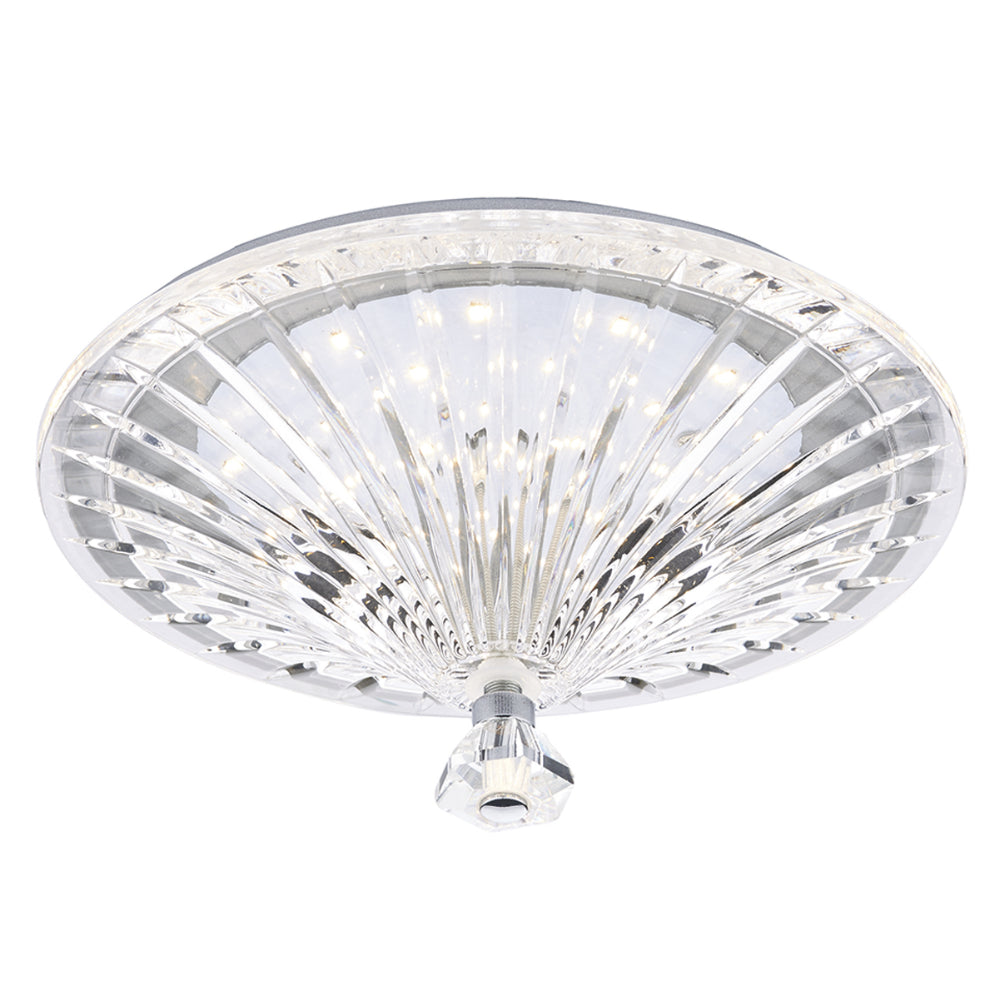 där Lighting VIN522 Vincent Polished Chrome & Crystal LED Flush Ceiling Light