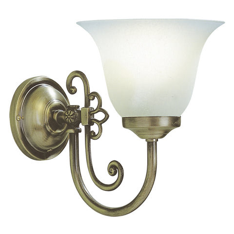 där Lighting WOO0785 Woodstock Single Light Antique Brass Wall Light