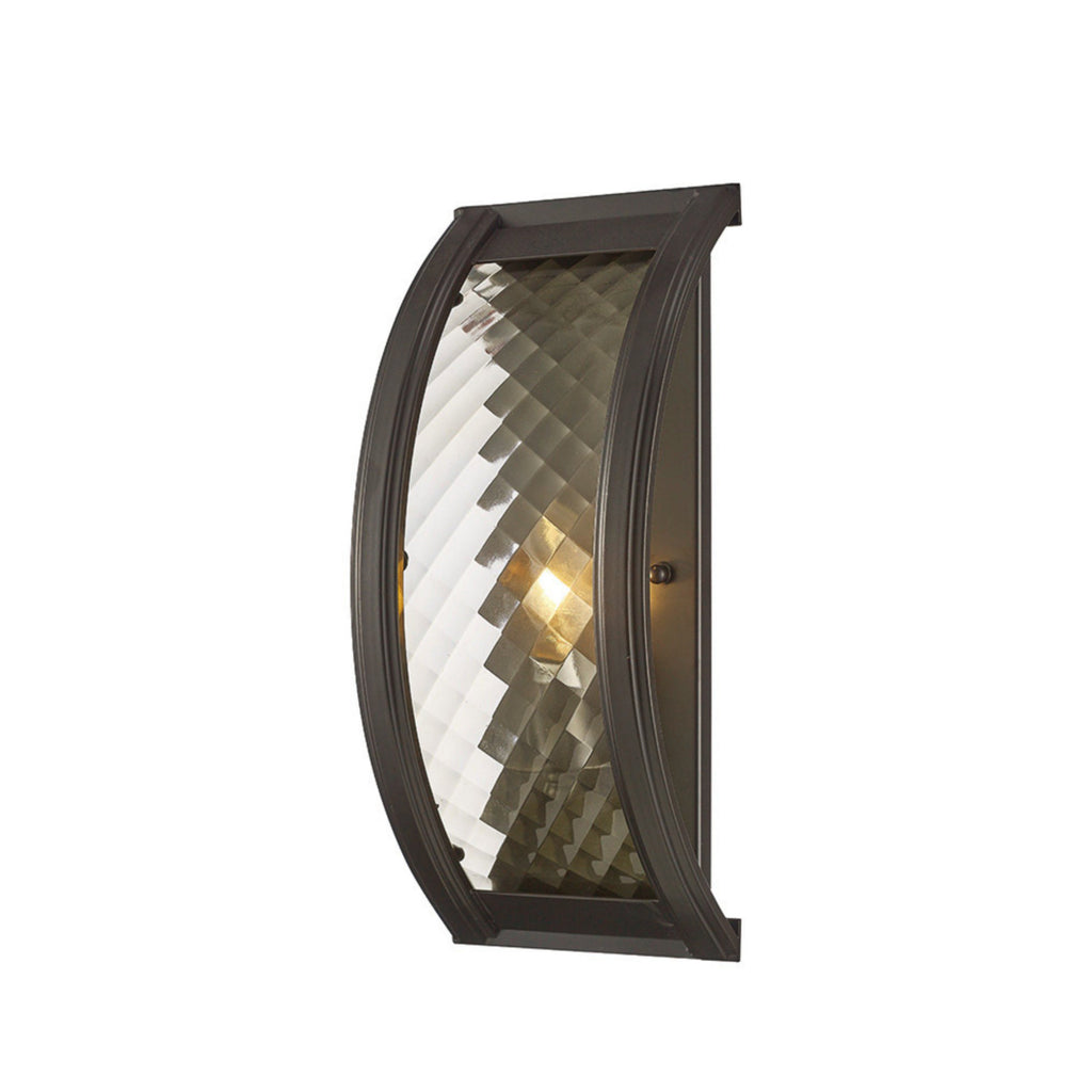 Diyas IL31675 Asia Single Light Wall Light Oiled Bronze Finish