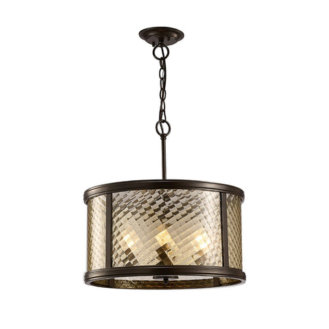 Diyas IL31677 Asia 4 Light Ceiling Lantern Oiled Bronze Finish