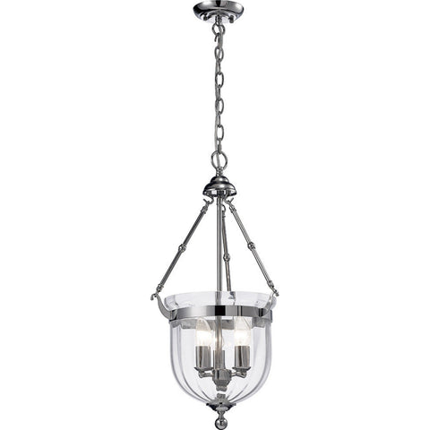 Diyas IL31072 Aubrey 3 Light Ceiling Lantern Chrome Finish