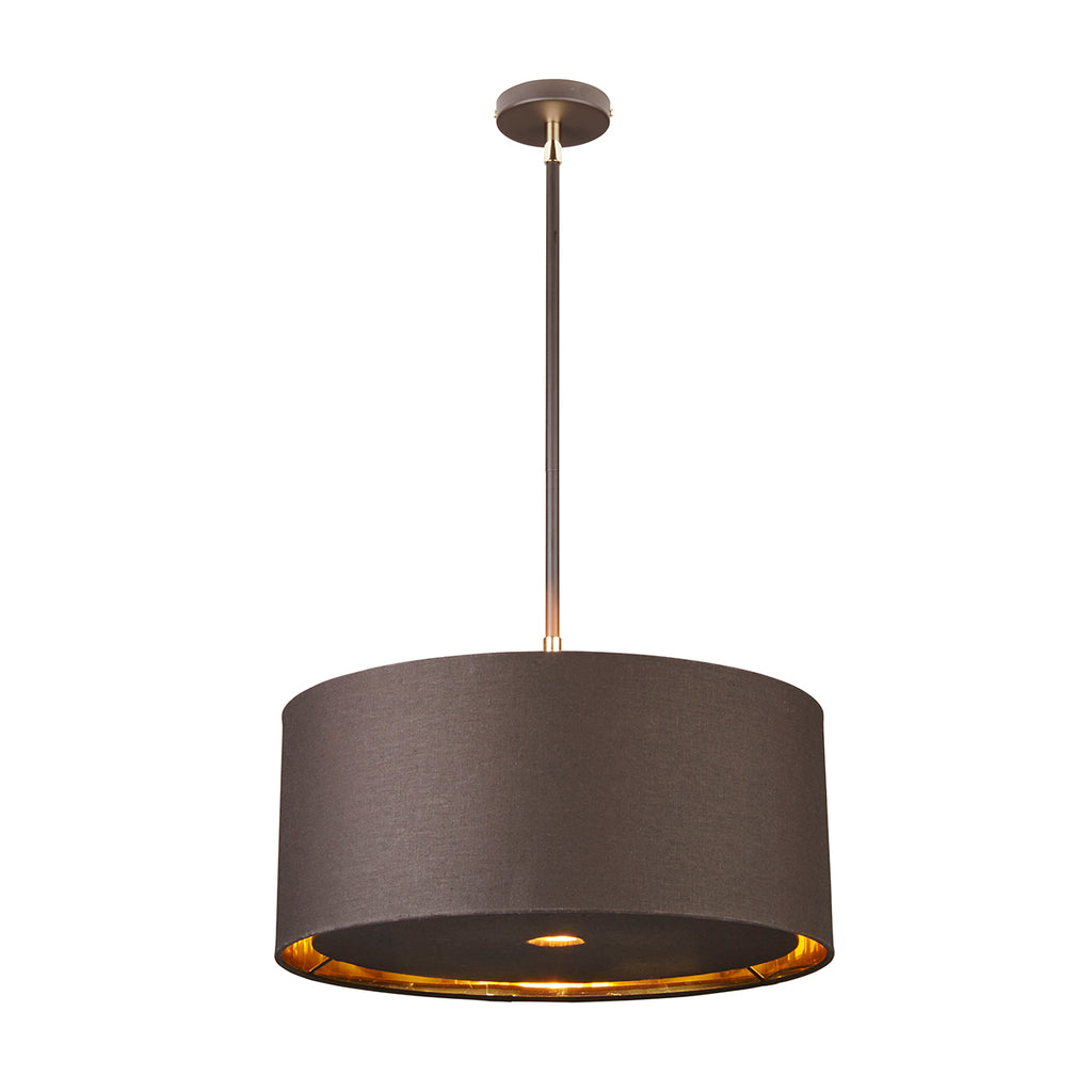 grey fabric ceiling light
