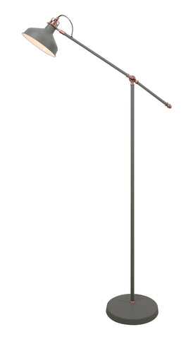 Regal Lighting SL-2273 1 Light Adjustable Floor Lamp Sand Grey And Copper