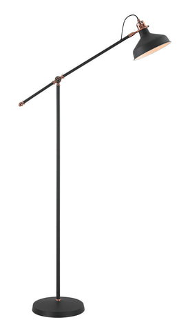 Regal Lighting SL-1740 1 Light Adjustable Floor Lamp Sand Black And Copper