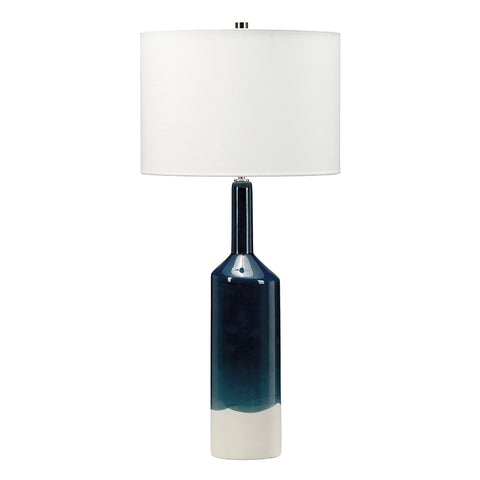 Elstead Lighting BAYSWATER-TL Bayswater Single Light Table Lamp Complete With White Faux Silk Shade