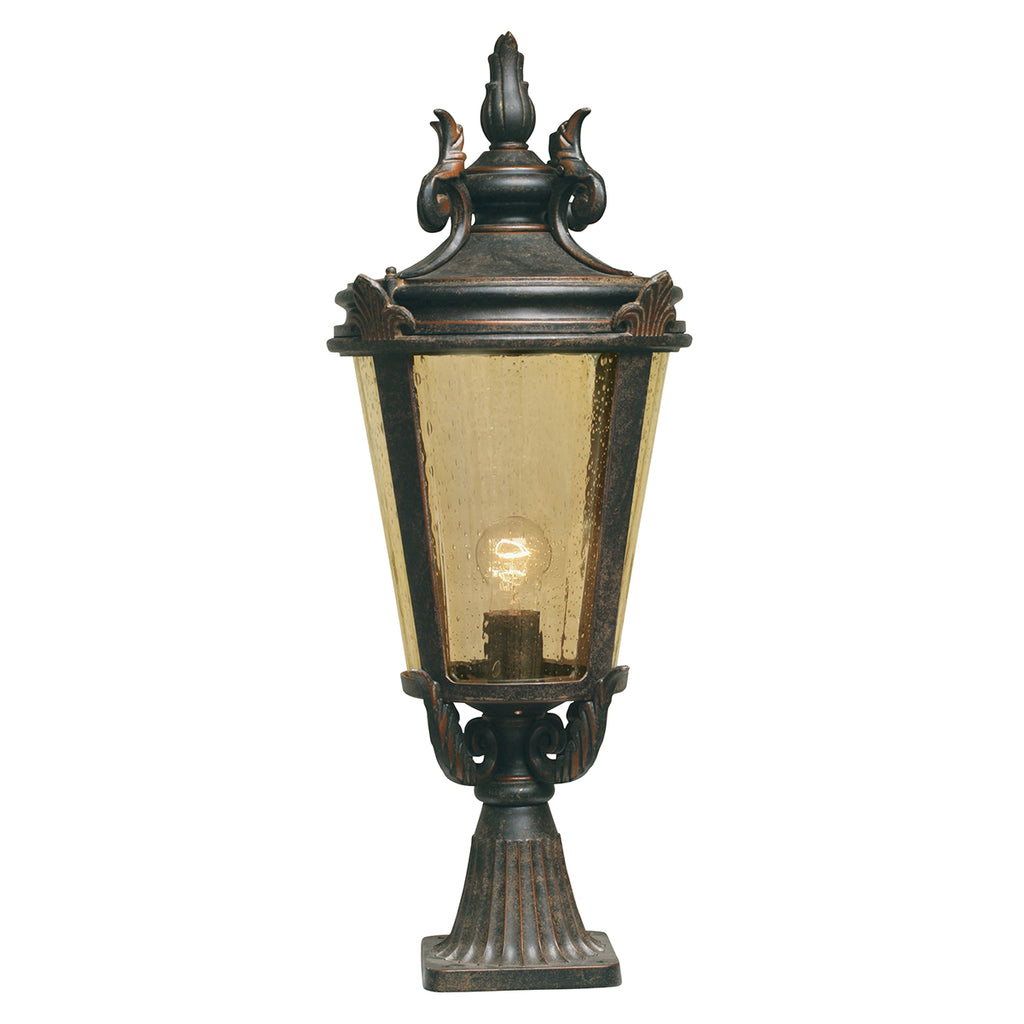Elstead Lighting BT3/L Baltimore Weathered Bronze Patina Large Outdoor Pedestal Lamp