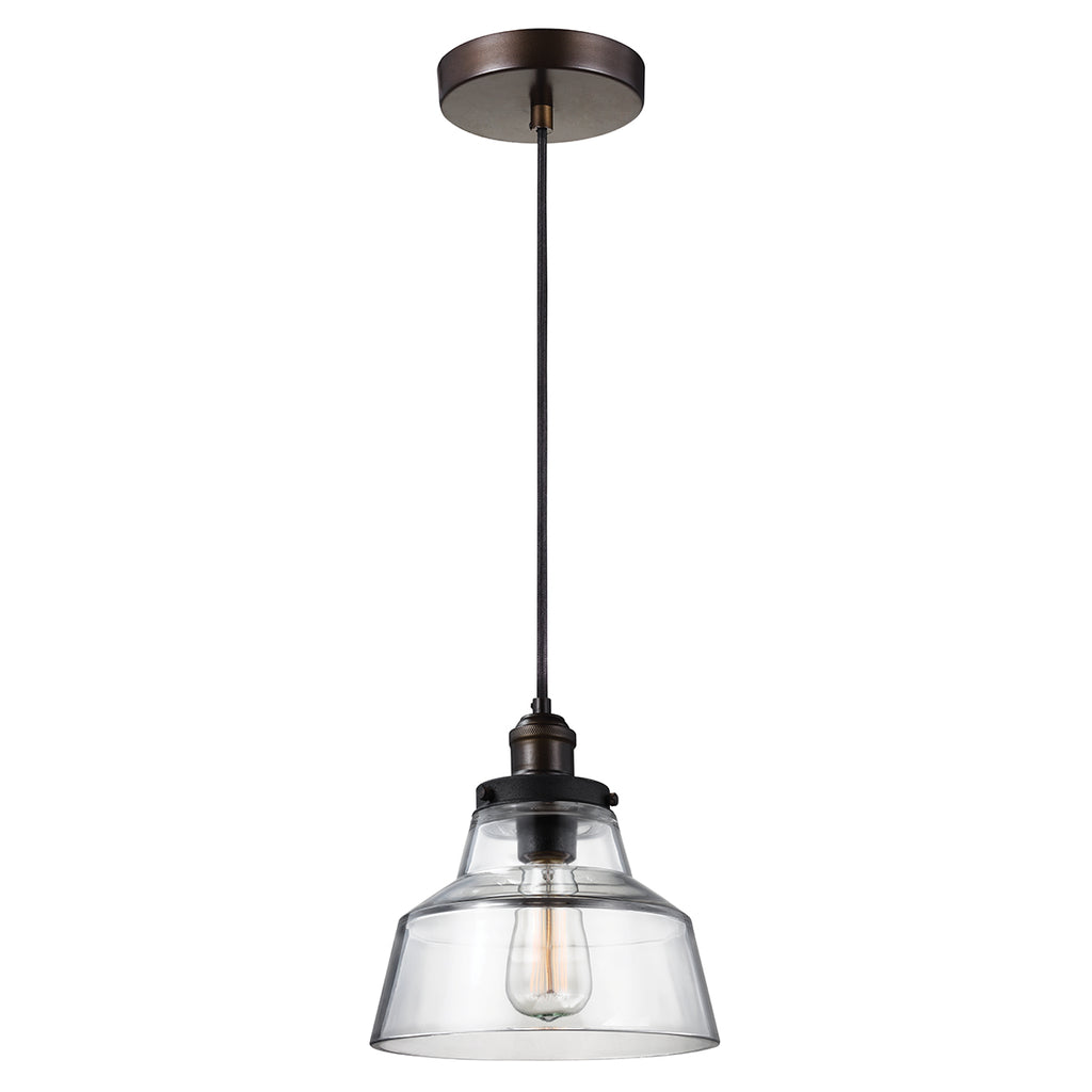 Elstead Lighting FE/BASKIN/P/A/BR Baskin Single Light Aged Brass Pendant Ceiling Light