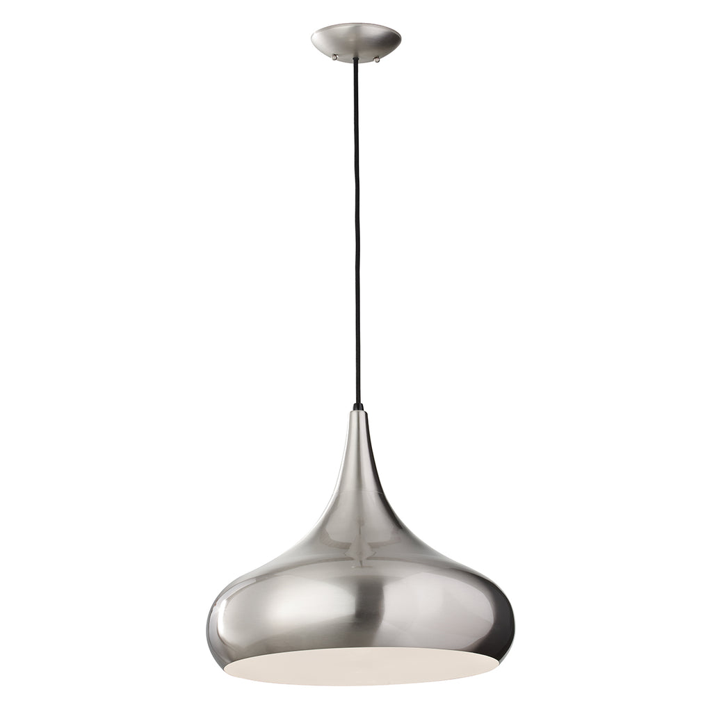 brushed steel pendant ceiling light