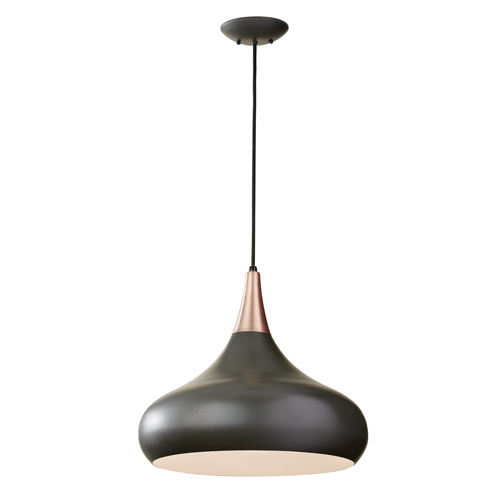 black and copper ceiling light