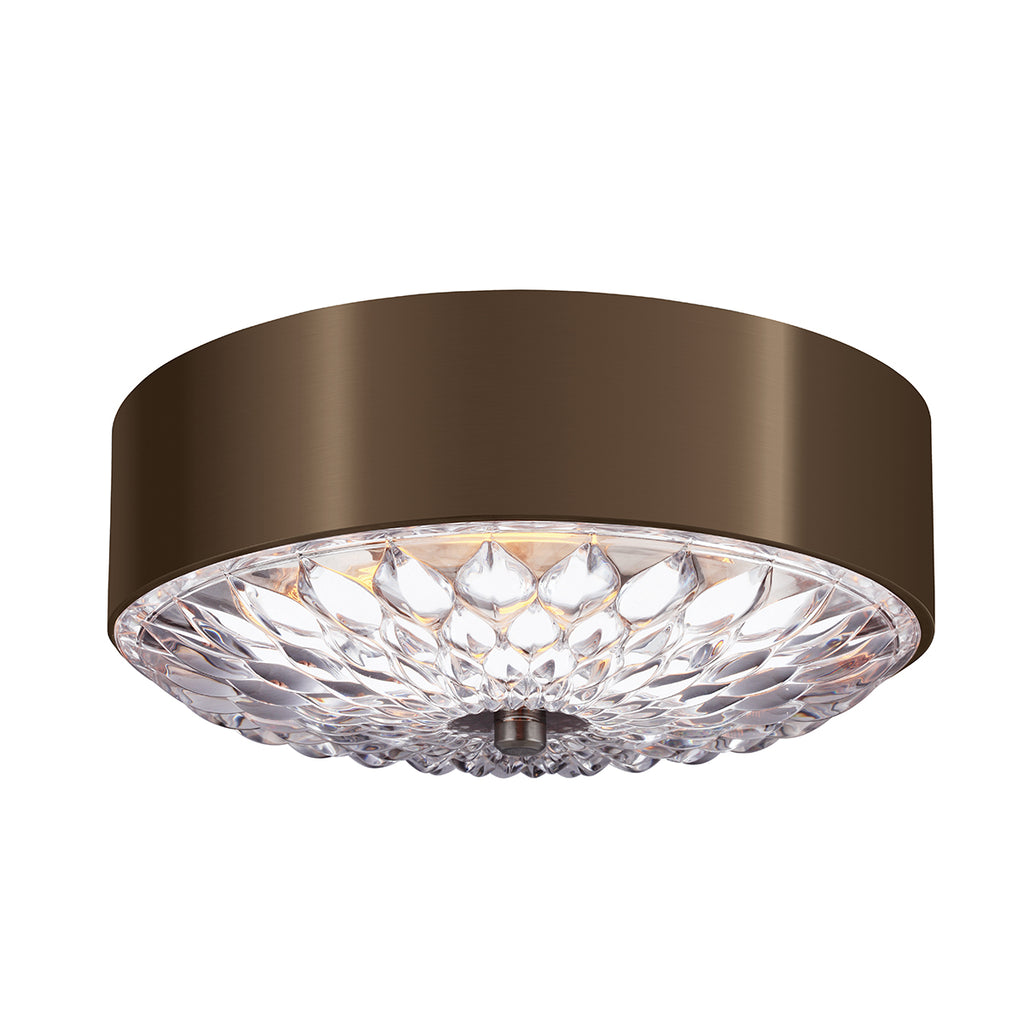 metal and crystal semi flush ceiling light