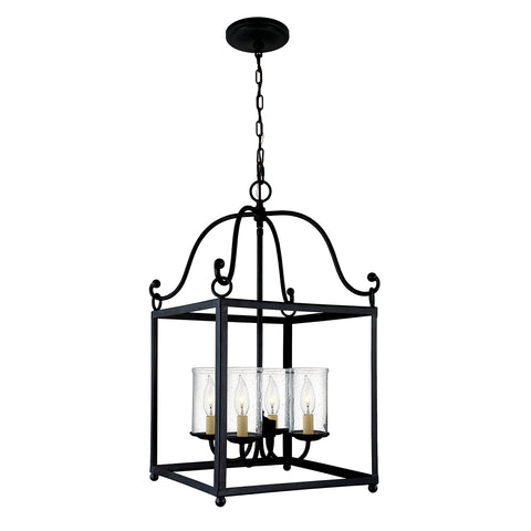 Elstead Lighting FE/DECLARATION4 Declaration 4 Light Antique Forged Iron Pendant Ceiling Light