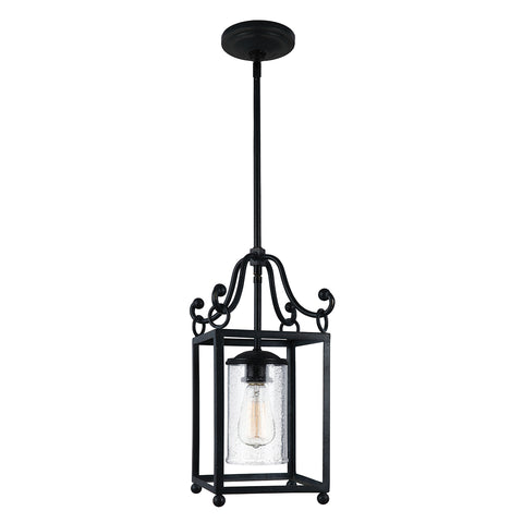Elstead Lighting FE/DECLARATIONMP Declaration Single Light Antique Forged Iron Mini Pendant Ceiling Light