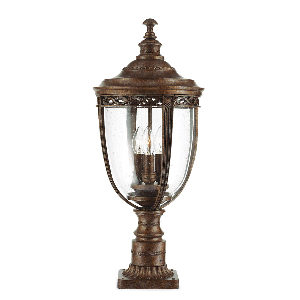 Elstead Lighting FE/EB3/LBRB English Bridle Bronze Large Pedestal Lamp