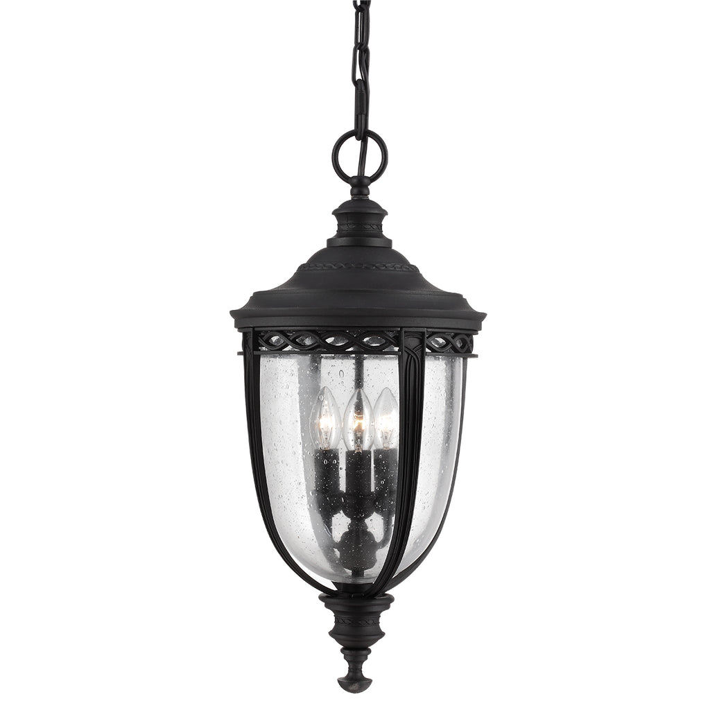 Elstead Lighting FE/EB8/LBLK English Bridle Large Black Outdoor Porch Light