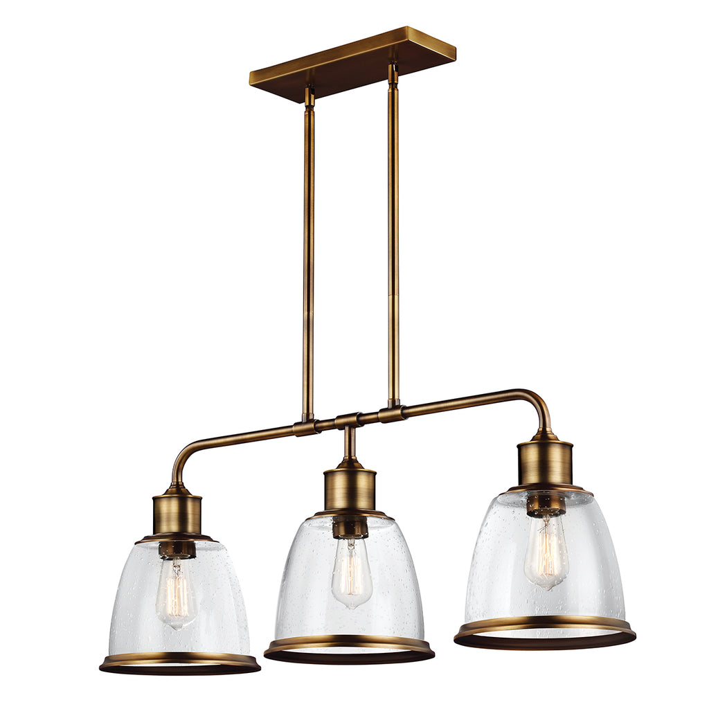 Elstead Lighting FE/HOBSON/3P/AB Hobson 3 Light Aged Brass Pendant Ceiling Light