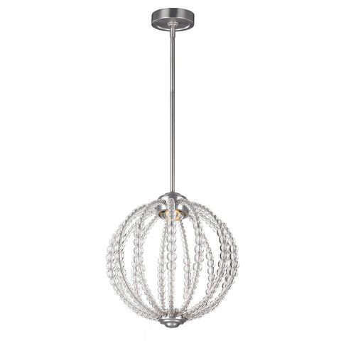 silver and crystal hanging ceiling light