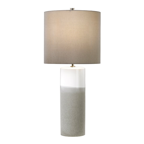 Elstead Lighting FULWELL-TL Fulwell Single Light Table Lamp Complete With Dark Grey Faux Silk Shade