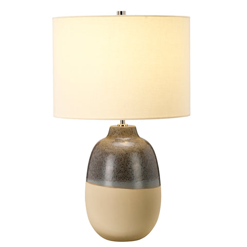 Elstead Lighting GRANGE-PARK-TL Grange Park Single Light Table Lamp Complete With Cream Faux Silk Shade