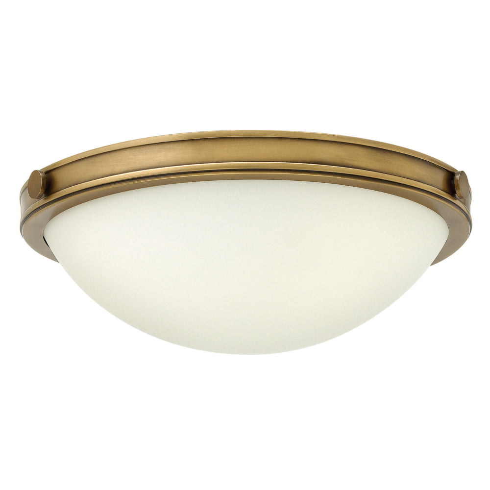 Elstead Lighting HK/COLLIER/F/S Collier 2 Light Heritage Brass Small Flush Ceiling Light
