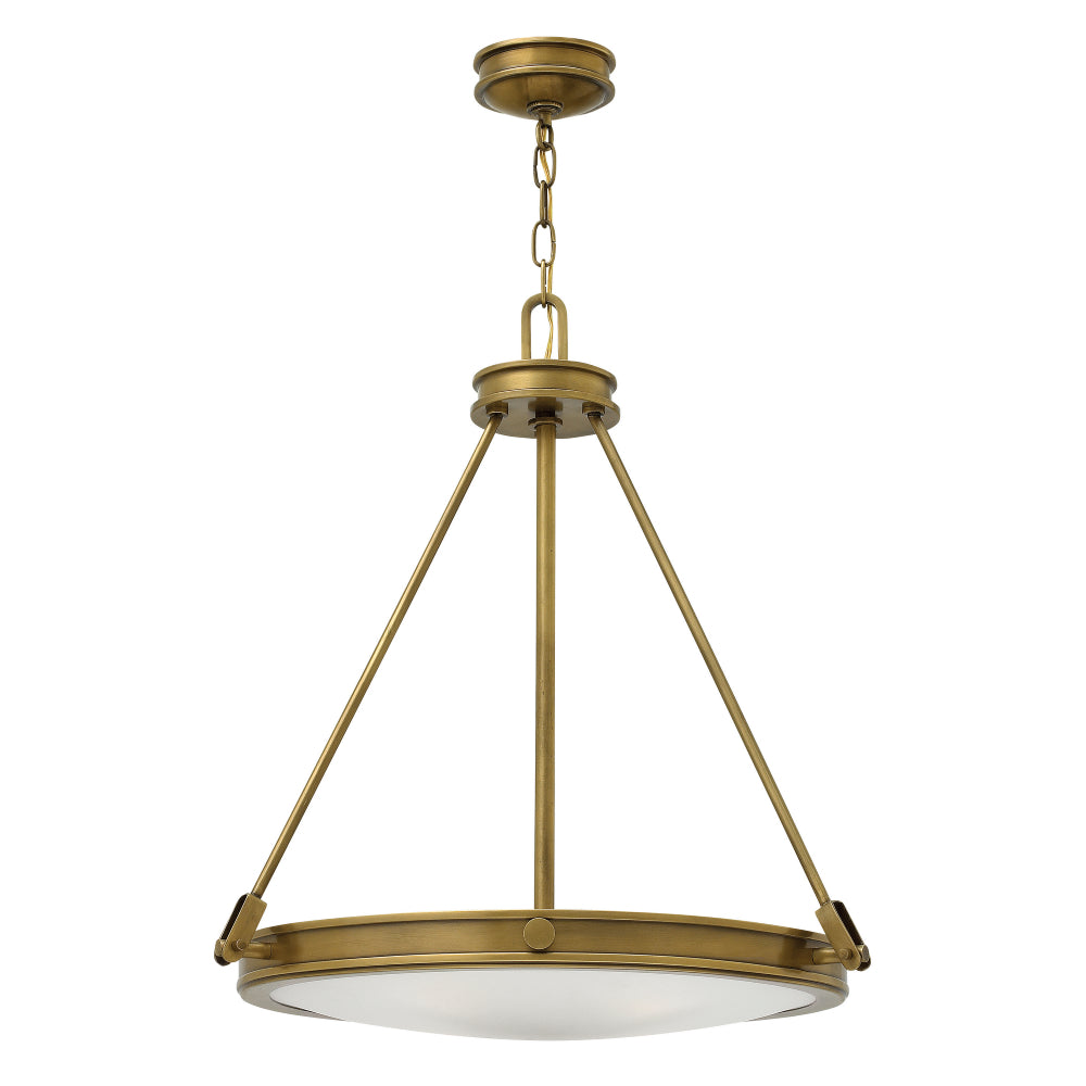 Elstead Lighting HK/COLLIER/P Collier 4 Light Heritage Brass Pendant Ceiling Light