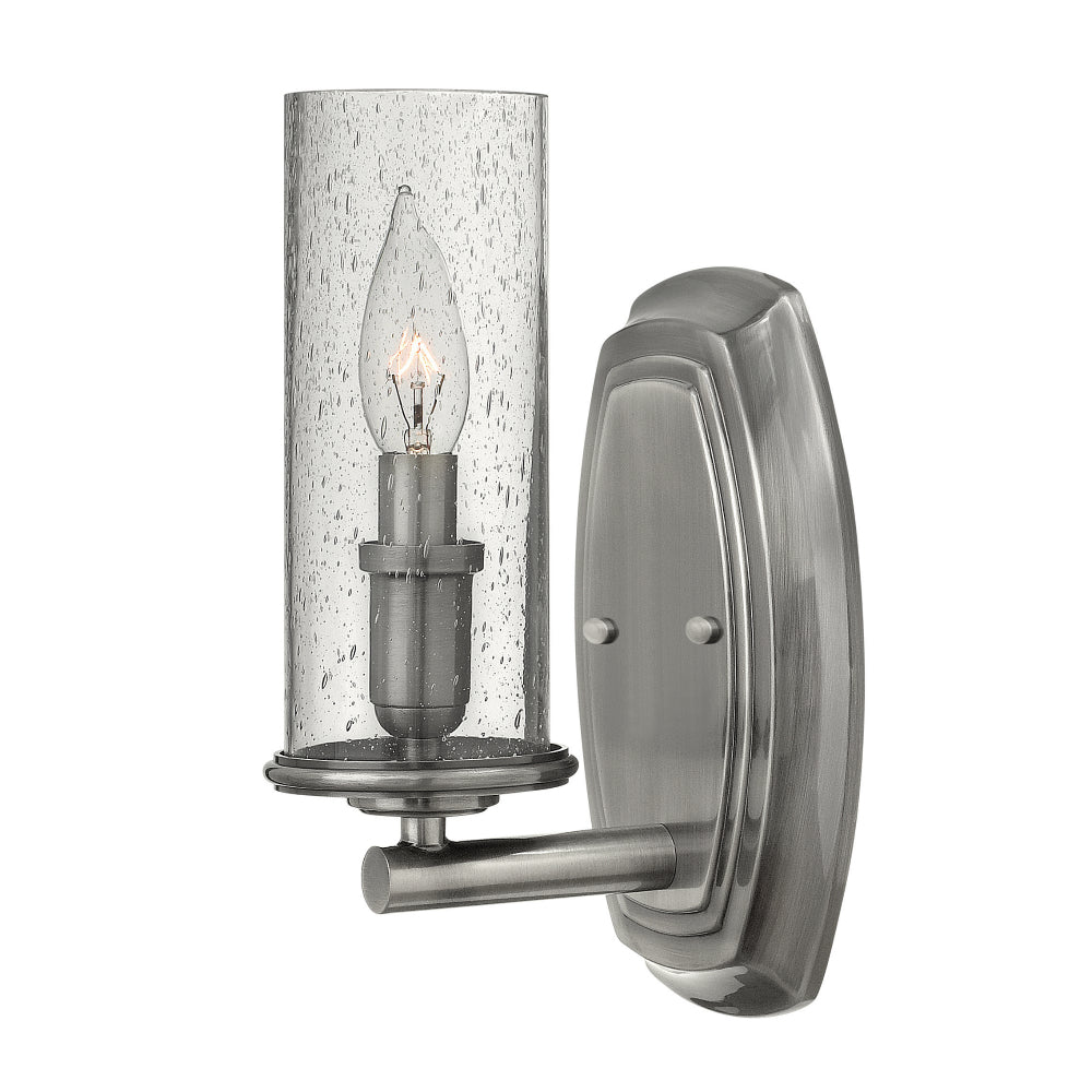 Elstead Lighting HK/DAKOTA1 Dakota Single Light Polished Antique Nickel Wall Light
