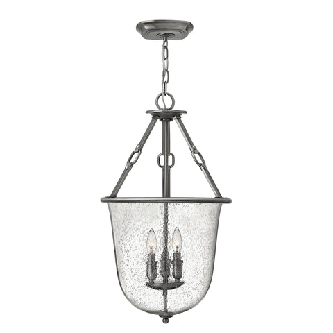 Elstead Lighting HK/DAKOTA/P Dakota 3 Light Polished Antique Nickel Pendant Ceiling Light