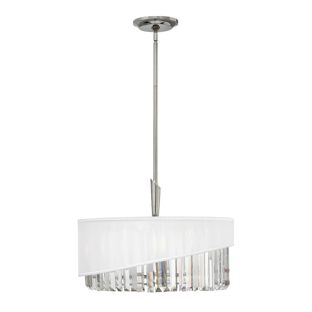 white and crystal hanging ceiling light