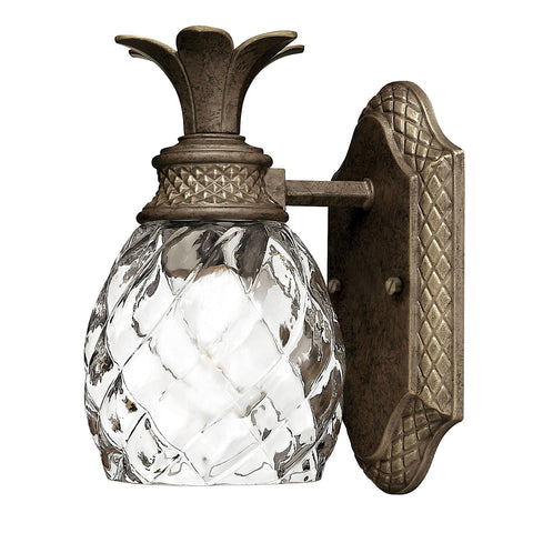 polished antique nickel wall light