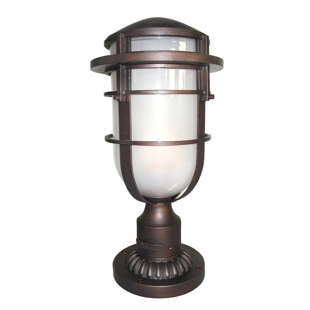 Elstead Lighting HK/REEF3VZ Reef Victorian Bronze Outdoor Pedestal Lamp