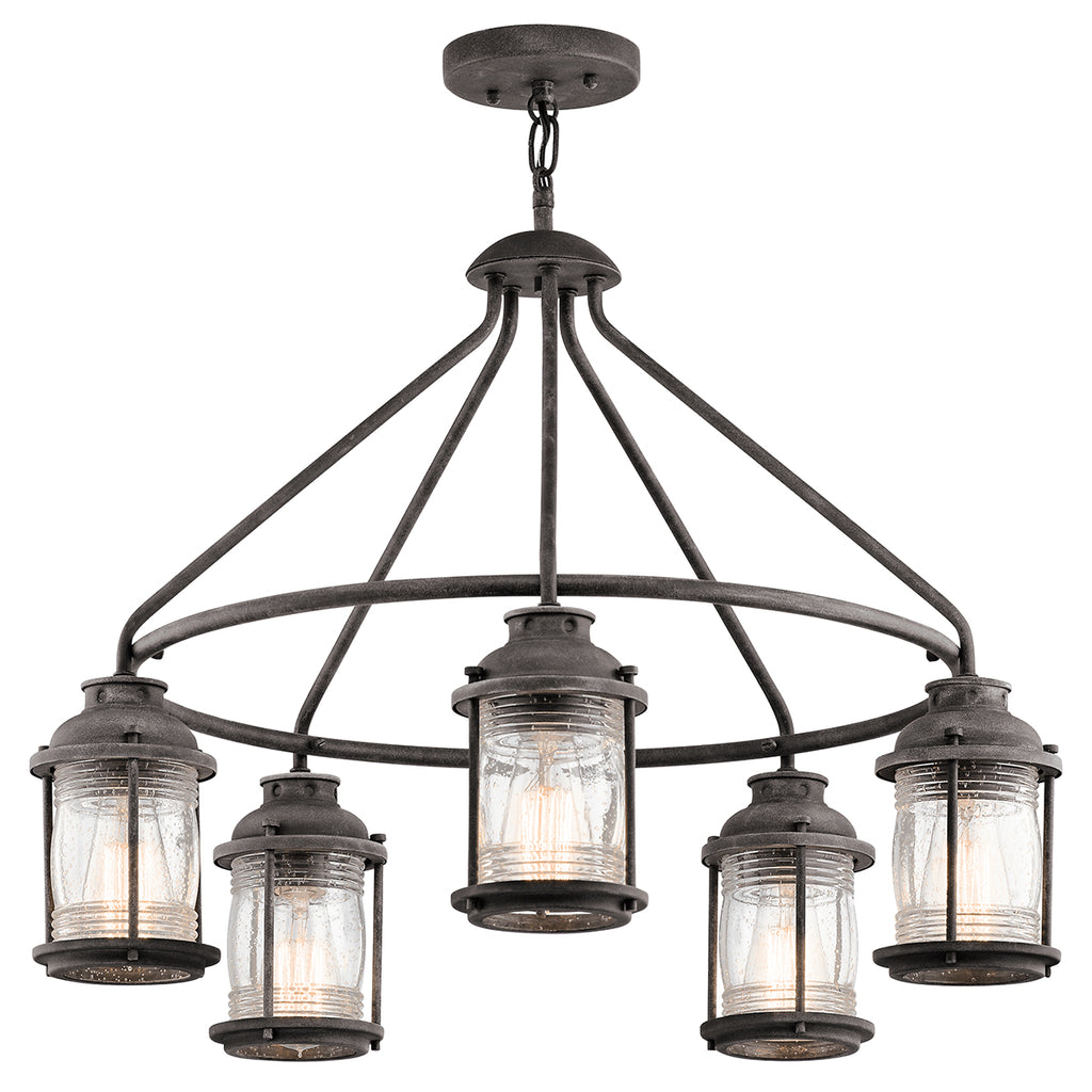 zinc outdoor chandelier