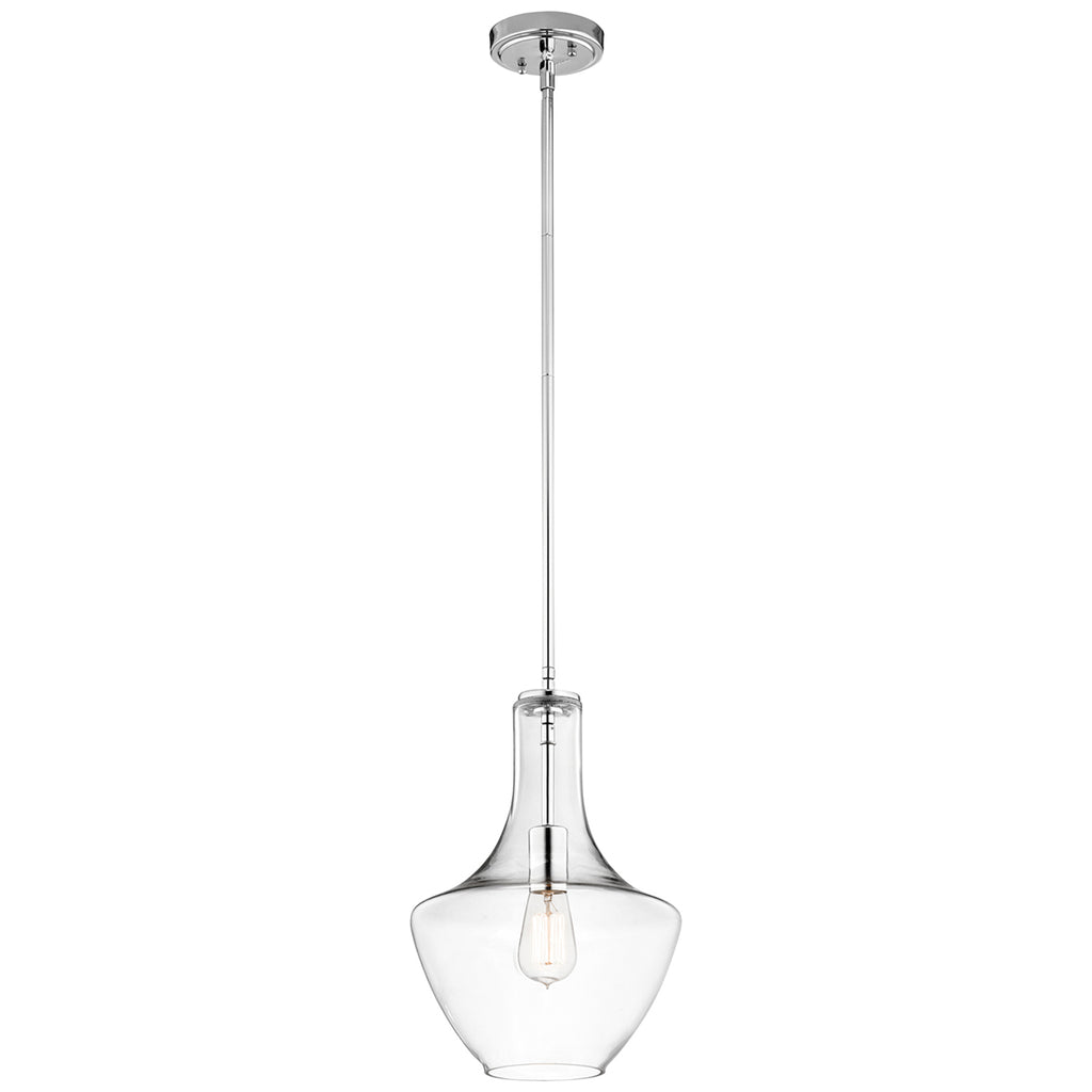 Elstead Lighting KL/EVERLY/P/S/CH Everly Single Light Chrome Small Pendant Ceiling Light