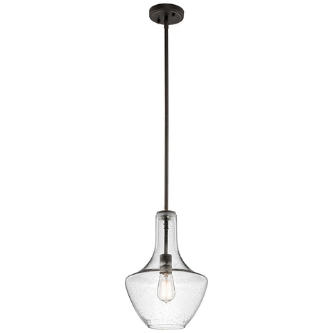 Elstead Lighting KL/EVERLY/P/S/OZ Everly Single Light Olde Bronze Small Pendant Ceiling Light