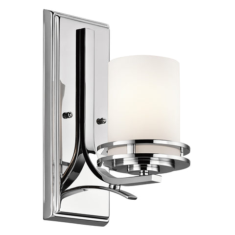 polished chrome wall light